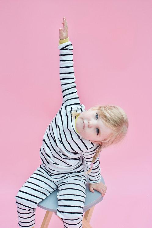 Mono Stripe Children's Pyjama Set