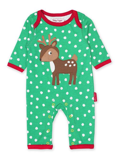 Toby Tiger Organic Deer Sleepsuit