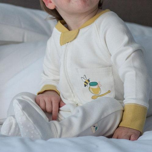 Organic Bee Pocket Sleepsuit