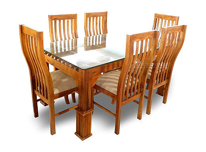 Dining set - teakwood - 6 seater - Royalteak