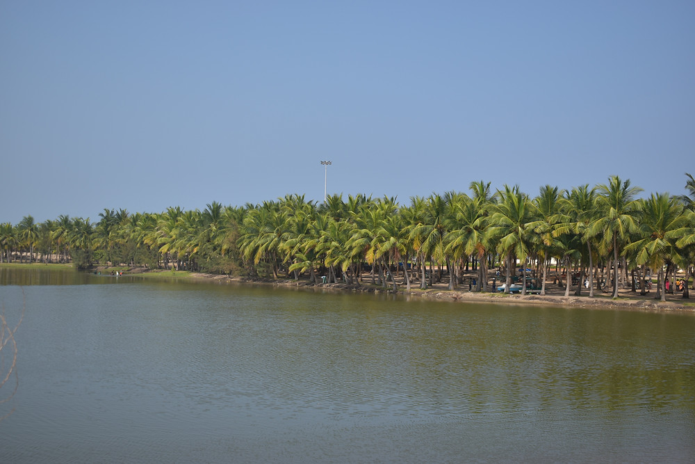 Entry point for paradise beach at pondicherry