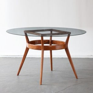 Round dining table - teakwood - Royalteak