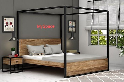 Four Poster Bed - Metal with Modesty