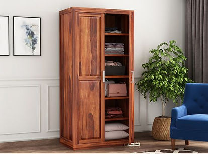 Teak wood wardrobe 2 door by Royalteak