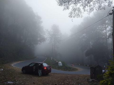 Zig Zag road on to a hilly road, road to lambasingi tourist place