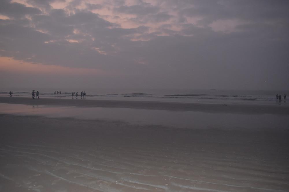 Suryalanka Beach in the morning
