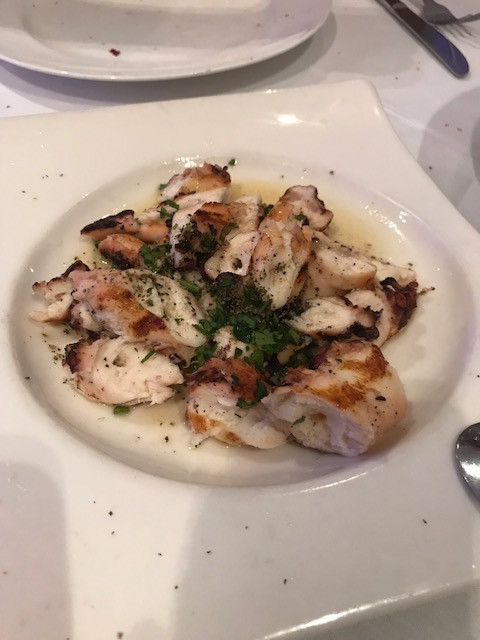 Grilled Octopus, Olive Oil & Herbs