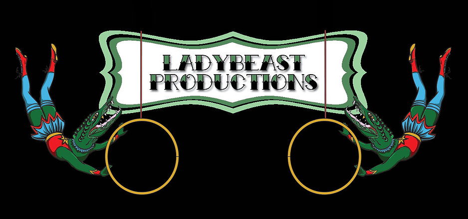 LadyBEAST Production logo lady alligator circus lyra