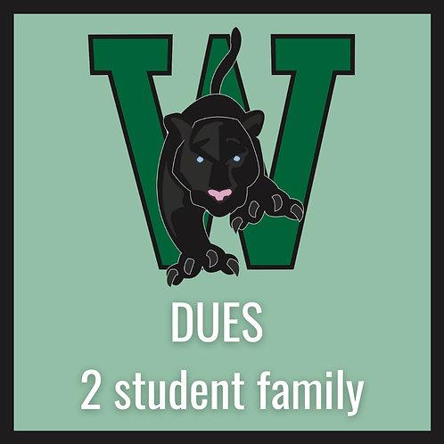 HSA Membership (DUES) - 2 student family
