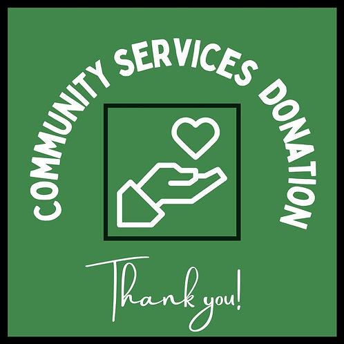 $20 Community Services Donation