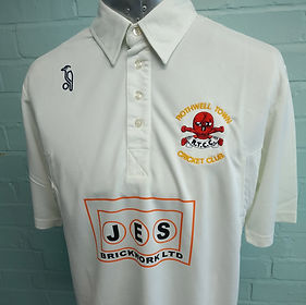 Embroidered and printed cricket shirts