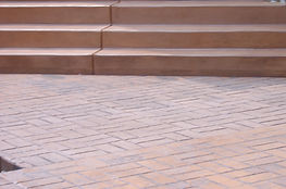 Steps and Stamped Concrete