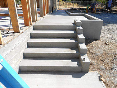 New Building Steps and Flat Work