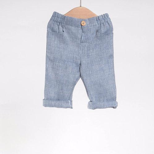 Pantalón largo Jaspeado Azul