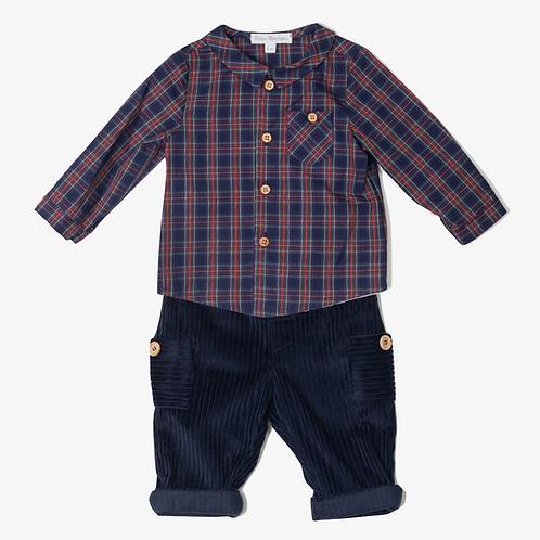 Conj. Camisa Cuadros y Pantalón Pana