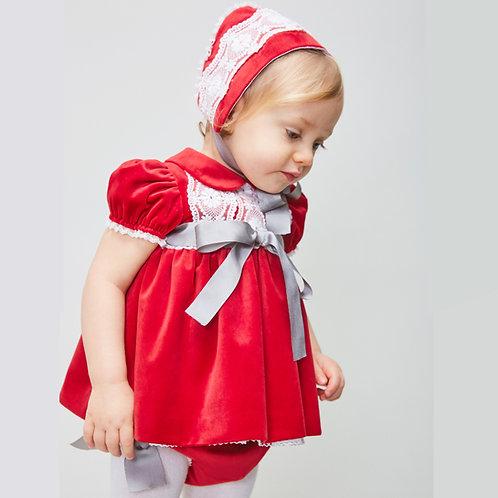 Vestido Terciopelo Rojo