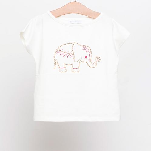 Camiseta aplicación elefante