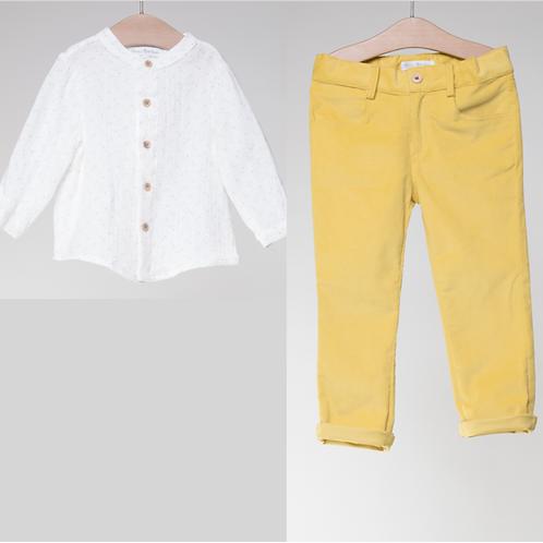 Camisa con Pantalon Mostaza