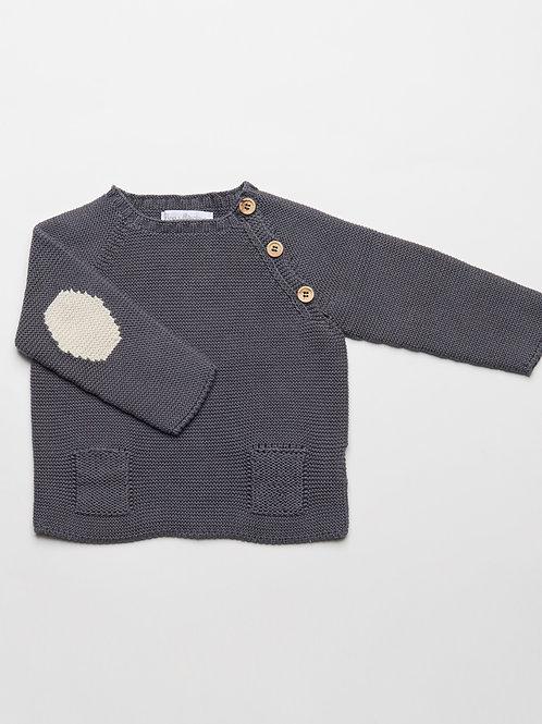 Suéter gris Oxford
