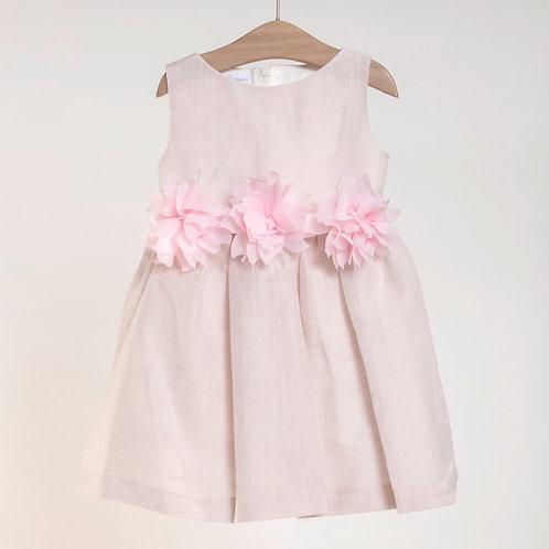 Vestido de Lino con Flores