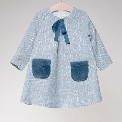 Vestido Tweed Aqua