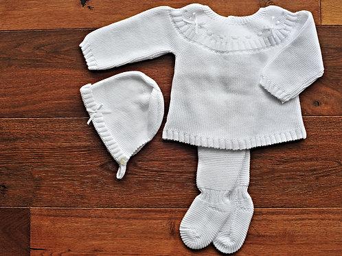 Conjunto Bebé Punto Blanco
