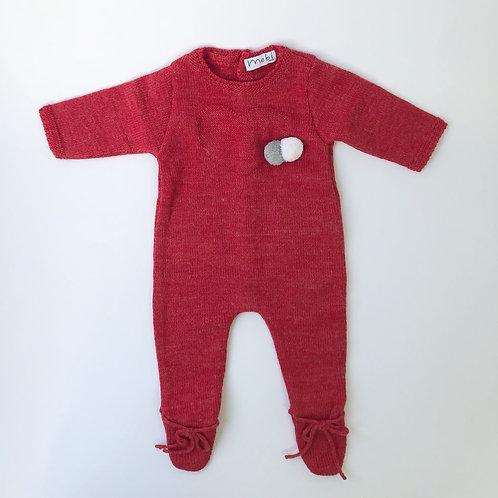 Pelele Rojo Pompones