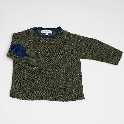 Suéter Rústico Verde Musgo