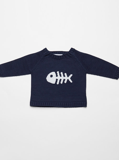 Suéter Pescadito (Azul Marino)