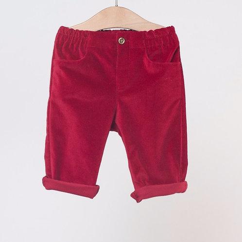 Pantalón Velvet Cereza