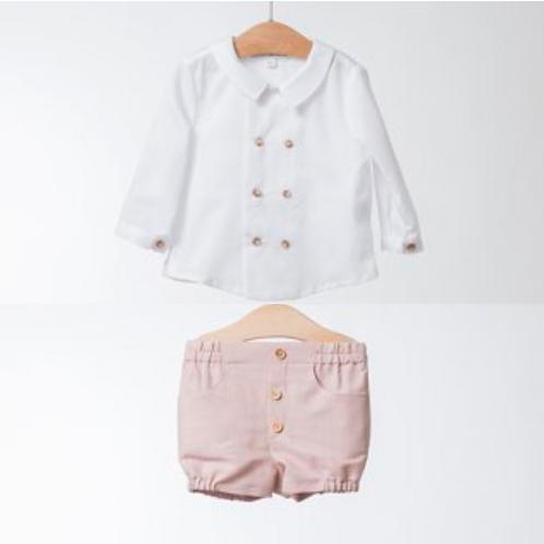 Conjunto de Camisa y Short de Lino