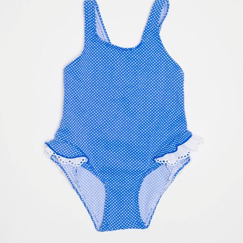 Bañador Azul Puntos Blancos