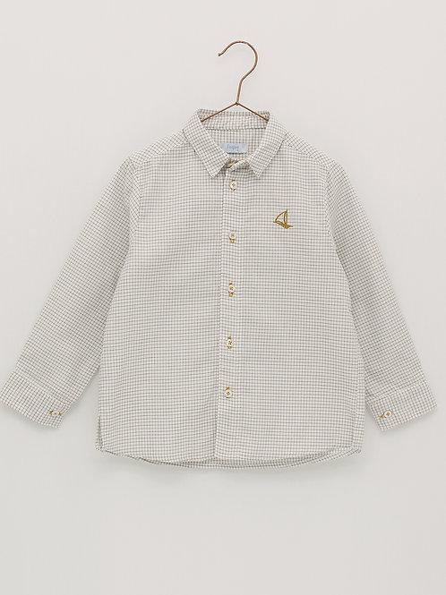 Camisa minicuadros gris FOQUE