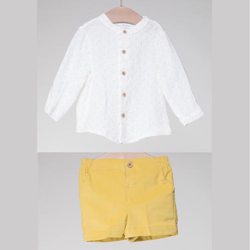 Conjunto Camisa Bermuda Mostaza