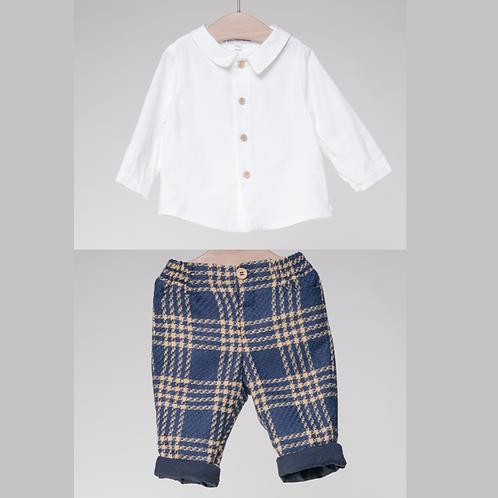 Conjunto de Camisa y Pantalón Cuadros