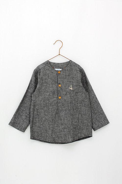 Camisa Lino Gris