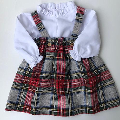 Vestido-pichi Cuadros Escoceses con Torera