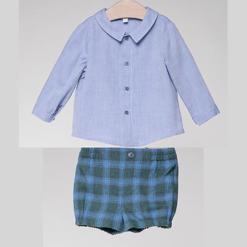Conjunto de Camisa y Bermuda Cuadros