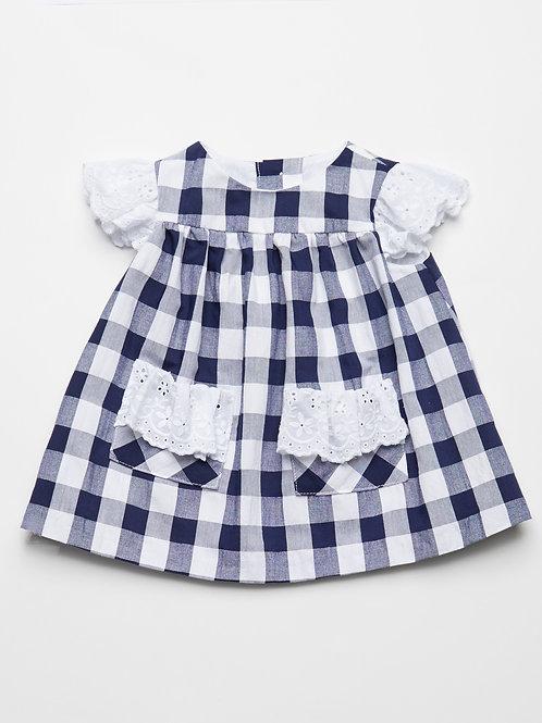 Vestido Cuadros Vichy Maxi