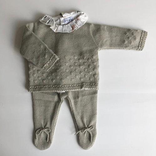 Conjunto tejido bebé 3 piezas
