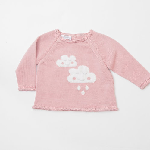 Suéter nubes rosa