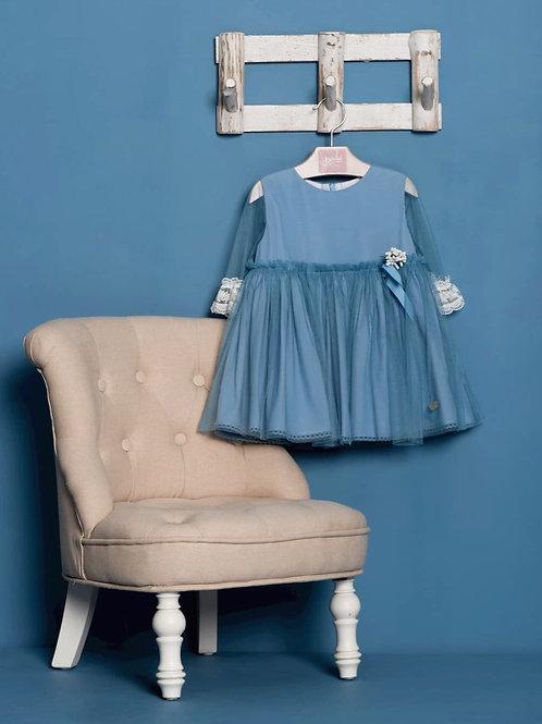 Vestido Tul Azul Francia