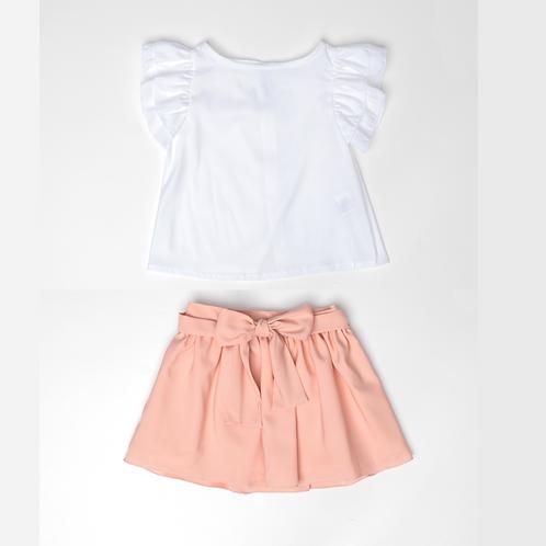 Conjunto de Blusa y Falda de Gasa