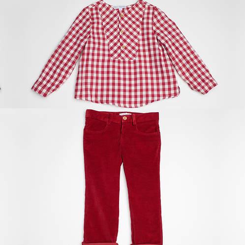 Pantalón micropana y camisa cuadros vichy