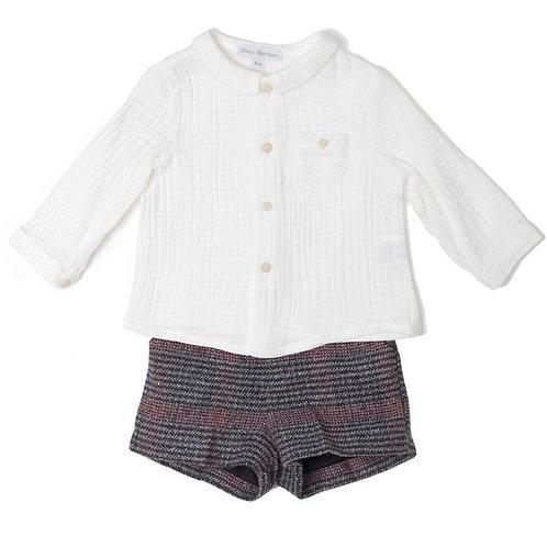 Conj. Camisa y Bermuda Cuadros