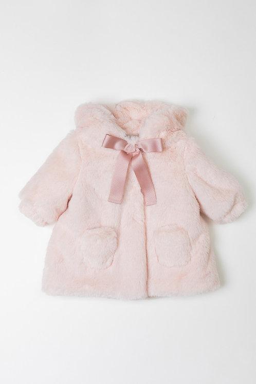 Abrigo Bebé Peluche Rosa