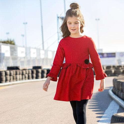 Vestido Rojo Picotas