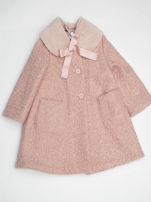 Abrigo astracán rosa palo
