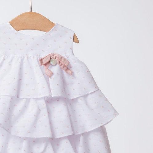 Vestido Plumetti con Cubrepañal