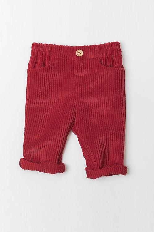Pantalón de Pana Rojo